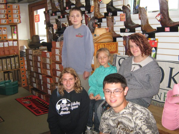 Group photo at Gass Horse Supply in Orono