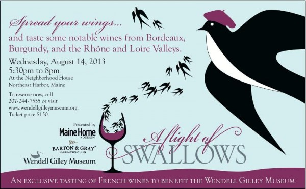 A Flight of Swallows - tasting of French wines