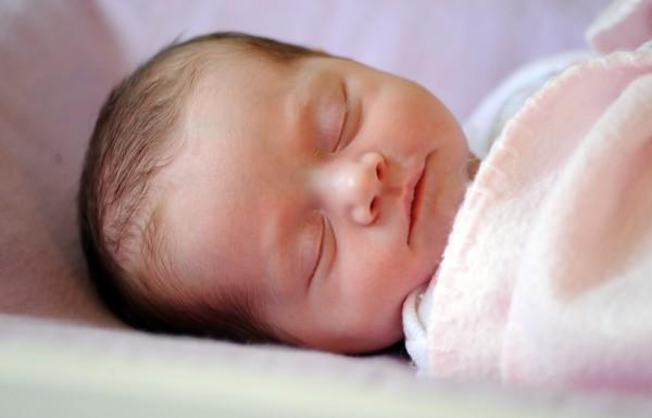Two-week-old Ruby Ann Nichols.