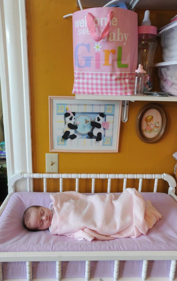 Ruby Ann Nichols, two weeks old.