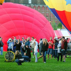 Balloons fill night sky at Lewiston festival