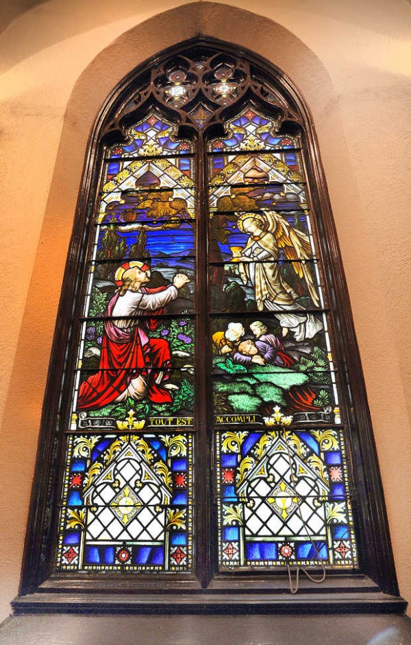 St. Louis Church in Auburn features more than two dozen stained-glass windows.