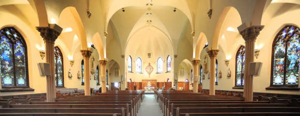St. Louis Church in Auburn was designed by architect Timothy G. O'Connell, who also designed the Basilica of Sts. Peter and Paul in Lewiston.