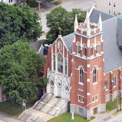 St. Louis Church in Auburn is pictured in this June 2013 aerial photo.