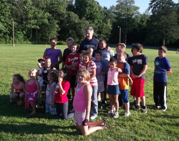 First evening of Lion of Judah Youth Football Camp at Glad Tidings Church in Bangor.
