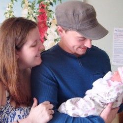 Proud Parents with Cameron Eliza (From left:) Ivy Butera, Michael Butera, Jr., and Cameron Eliza Butera