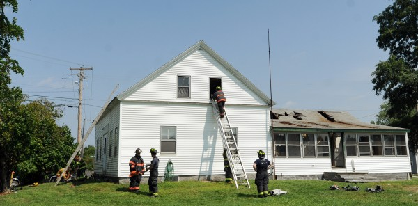 Penobscot County's Fire Academy held part of its two-week training at a donated house in Orrington on Thursday. Twelve students practiced venting, search and rescue, and rescuing an unconscious victim out a window.