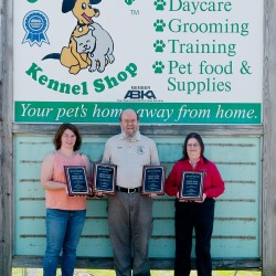 "Green Acres management team with 2013 ""Best of"" awards - Kate Dutra-Operations Manger, Don and Paula Hanson-co-owners"