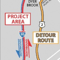 Construction will cause I-95 detour in Aroostook