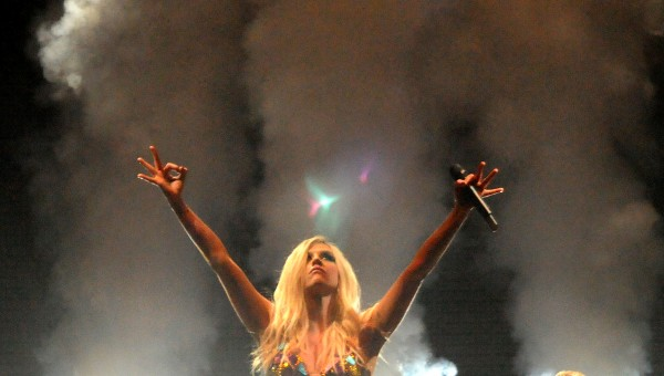 Ke$ha performs at the Bangor Waterfront Friday night.