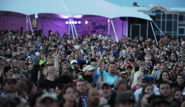 A full house cheers as Dierks Bentley performs at the Darlings Waterfront Pavilion on Friday.