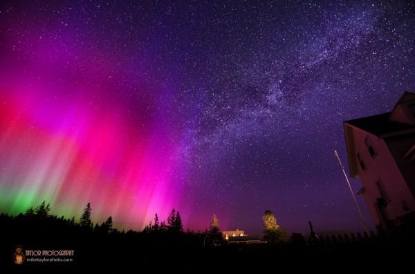 Northern Lights & Milky Way at Pemaquid Point.