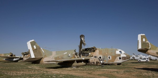A dismantled C-123 in 2010 at Davis-Monthan Air Force Base in Tuscon, Ariz. Many of the Vietnam War-era planes were melted down, in part because of concerns about potential Agent Orange liability, Air Force memos show.