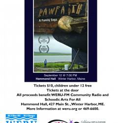 WERU and Schoodic Arts for All will present Raw Faith at Hammond Hall in Winter Harbor on Sept. 12 at 7pm.
