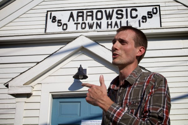 Voter Stephan Puff, a lay minister at his church, said voting is important before he cast his ballot in Tuesday's special Maine Senate District 19 election in Arrowsic. &quotI tell them to be the change they want in the world,&quot he said of his parishioners.