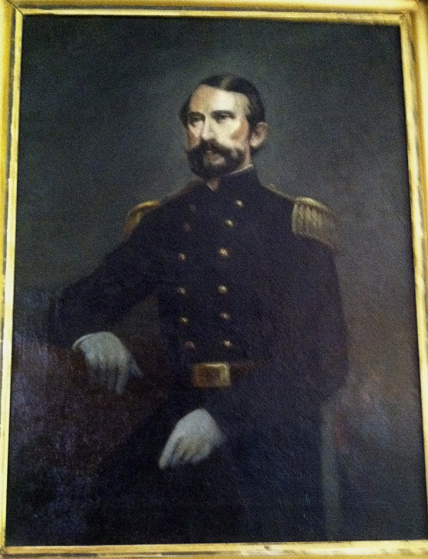This oil portrait of Army Maj. Stephen Decatur Carpenter of Bangor hangs in the Illinois home of Elizabeth Bamford Keepper. Carpenter is her great-great-great uncle; he lies buried beside his young son, John, at Mount Hope Cemetery.