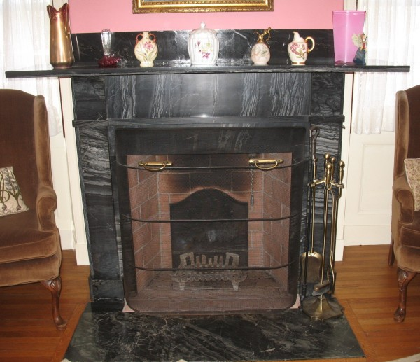Parlor Mantelpiece of Black Marble in Historic Thomaston Home - Peg McCrea of Thomaston will present her program at 7:30 PM, Wed. Sept. 4 at the Old Town House in Union. FMI call 785-5444