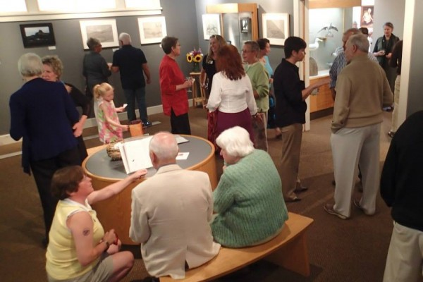 More than 60 guests attended the members' reception to open Naturally Drawn: Recent Works of Robert Pollien on August 7 at the Wendell Gilley Museum.