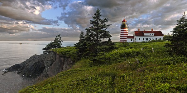 Panorama at West Quoddy Head Lighthouse.