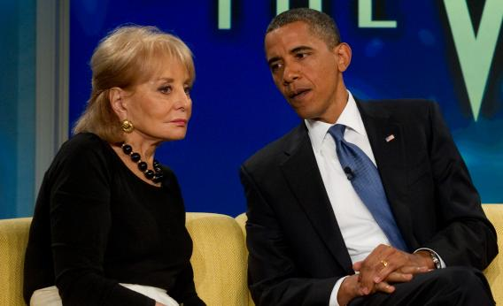 "President Obama talks with Barbara Walters during a taping of The View on July 28, 2010.The president told Walters in an ABC interview last year that ""it would not make sense for us to see a top priority as going after recreational users in states that have determined that it's legal."" And now Obama has put his policy where his mouth is."