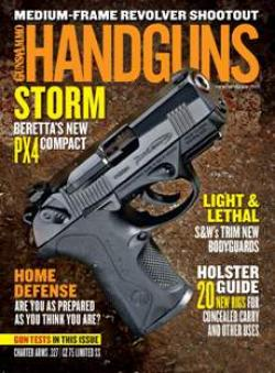 A recent issue of Handguns.