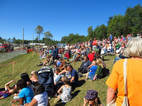 The crowd at the Demolition Derby.