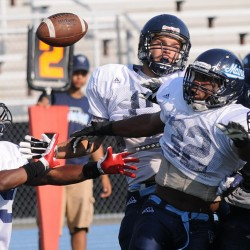 Kicker Decloux on target during UMaine football's Jeff Cole Spring Scrimmage
