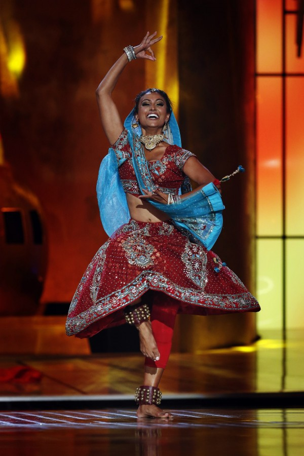 Miss America contestant, Miss New York Nina Davuluri performs during the 2014 Miss America Pageant in Atlantic City, New Jersey, September 15, 2013.