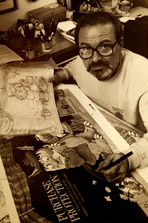 A photo shows Maurice Sendak at work. From Sept. 6 to Oct. 25, the Maine College of Art and the library is presenting a special exhibition called &quotMaurice Sendak: 50 Years, 50 Works, 50 Reasons.&quot The exhibition includes 50 original works from Where the Wild Things Are in a variety of mediums including sketches, illustrations, and works on paper, and showcases highlights from Sendak's career and the diverse art forms.