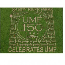 UMF 150th anniversary celebrated in local corn maze design