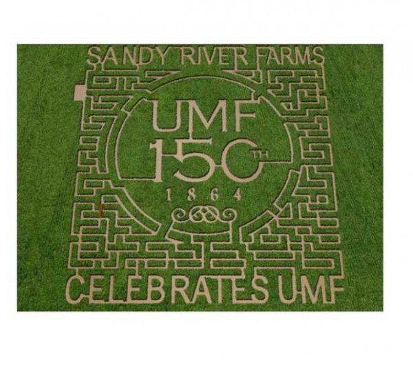 Sandy River Farms in Farmington will open its fifth annual Amazing Corn MAiZE Saturday. The design celebrates the 150th anniversary of the University of Maine at Farmington.