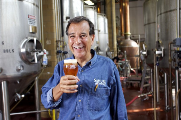 Koch is seen here at the Sam Adams brewery in Boston in 2010.