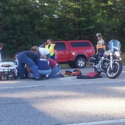 Motorcyclist sent to hospital after early-morning collision with van in Durham