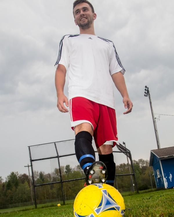 With the first of two goals he scored Friday during a 5-1 victory over Van Buren, Madawaska High School senior striker Ian Lee became the boys' state high school record holder for career goals. He now has 109 career goals.