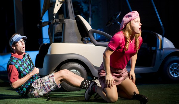 Dominick Varney and Christie Robinson in Penobscot Theatre Company's production of &quotThe Fox on the Fairway.&quot
