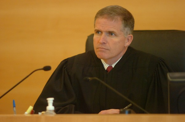 Superior Court Justice John Nivison at Penobscot Judicial Center on April 11, 2012.