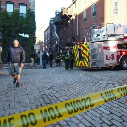 Portland fire crew responds to two-alarm call in Old Port