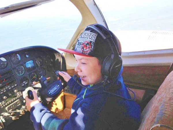 Since he was diagnosed with Ewing Sarcoma, a form of cancer, a few weeks ago, 10-year-old Zach Gagnon of Caribou has put in some serious miles between northern Maine and Boston for treatment. During a recent Patient AirLift Services flight to Boston, volunteer pilots let the youngster take a turn at the co-pilot controls.