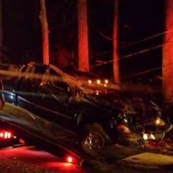 Two injured as car flies 100 feet, strikes tree in Lebanon