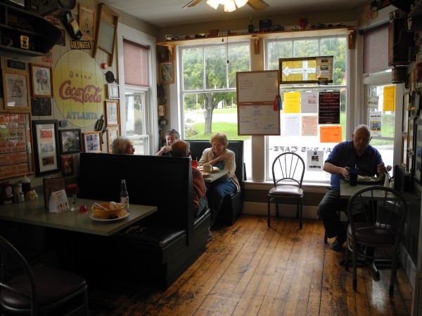 Locals finish their lunch this week at Ralph's Cafe. Betty Tuthill said that she eats there at least once a week, and that the eatery is packed for Sunday breakfast. &quotIt's great,&quot she said of the restaurant, whose owners are facing a financial challenge. &quotOtherwise, you have to go to Belfast, Bangor or Augusta. It's handy.&quot