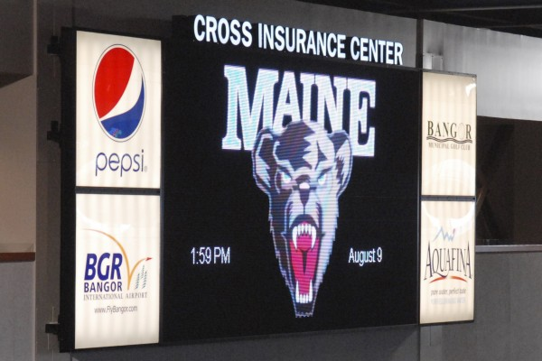 At the Cross Insurance Center in Bangor, the arena features a digital scoreboard that relays important information to people attending different types of events. The scoreboard will especially be popular during University of Maine Black Bear basketball games.