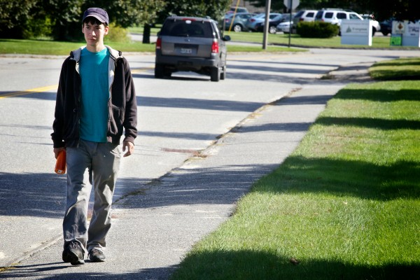 Kenji Yamauchi, 24, walks two-and-a-half miles back to his apartment in Lewiston after getting his daily dose of methadone. He has been clean for almost 90 days.