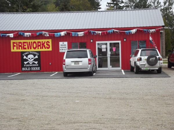 Black Bear Fireworks store in Machias.