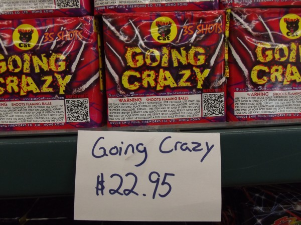 &quotGoing Crazy,&quot the name of a fireworks product available at Black Bear Fireworks in Machias, could aptly describe the impact of nuisance fireworks displays on Washington County Sheriff Donnie Smith and small communities that are struggling with how to regulate them.