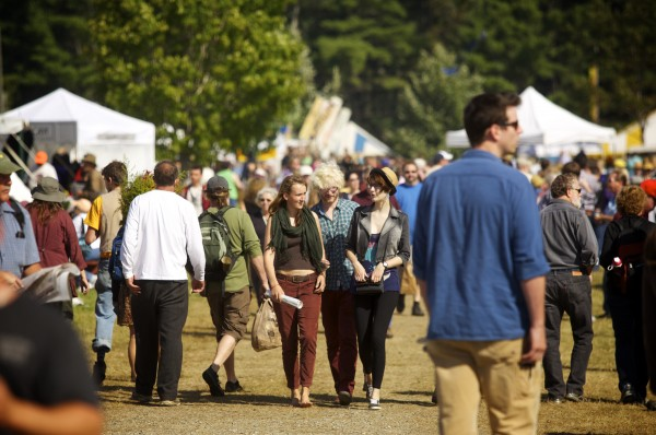 People visit the 2013 Common Ground Country Fair on Saturday in Unity.