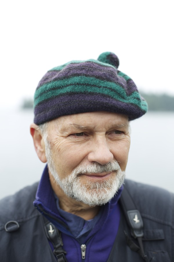 Stephen Kress, the founder of Project Puffin, talks about the current status and ongoing research of puffins on Eastern Egg Rock in Muscongus Bay, about six miles east of Pemaquid Point in July.