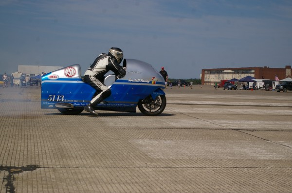 Bill Warner, a speed racer and tropical fish seller from Wimauma, Fla., was attempting to hit 300 mph within 1 mile when he lost control of his motorcycle and crashed earlier this year at land speed trials at the former Loring Air Force base.