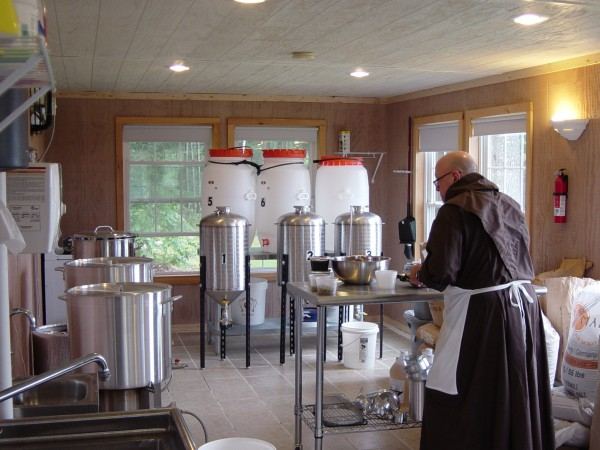 Brother Donald Paul of the Franciscan Friars of St. Elizabeth makes beer out of the Friar's new brewery on their monastery grounds in Bucksport.