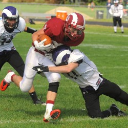 Clutch defensive plays enable Bulldogs to top Rams in 125th Bangor-Portland football game