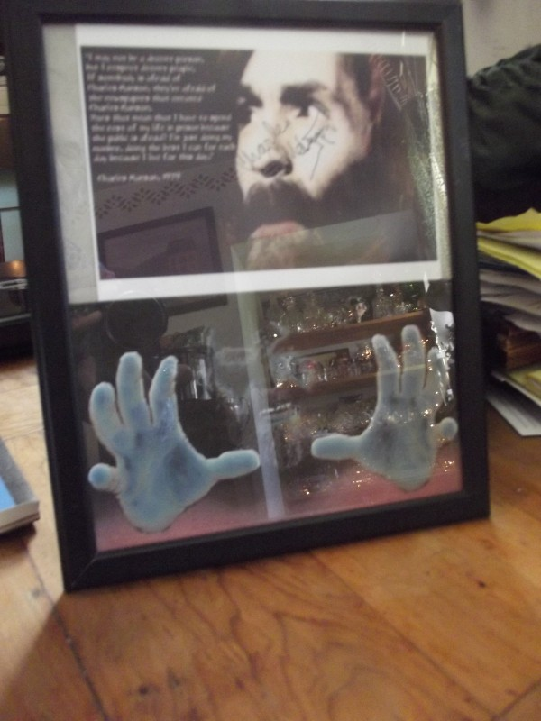 Bill Torrey of Cherryfield received this autographed photograph from Charles Manson, one of his prison pen pals.